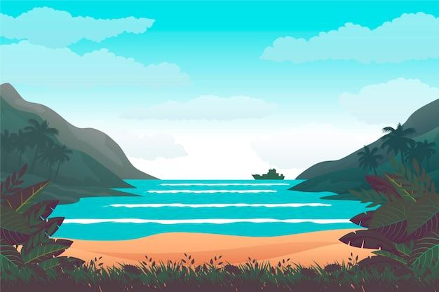 Zomer landschap - achtergrond voor zoom