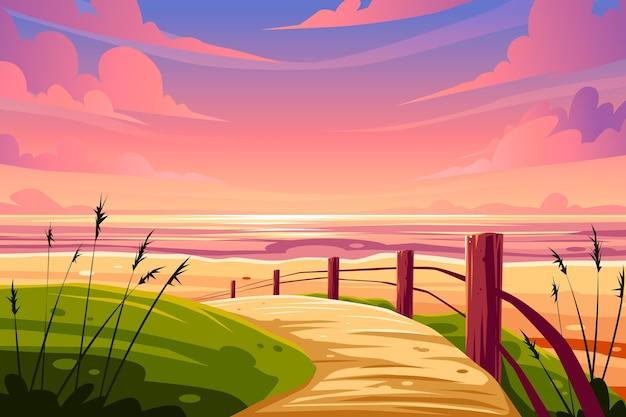 Zomer landschap achtergrond voor zoom