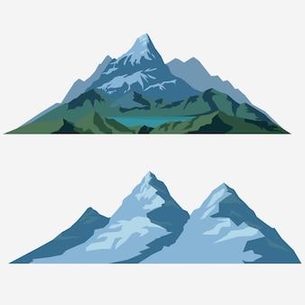 Zomer landschap illustratie