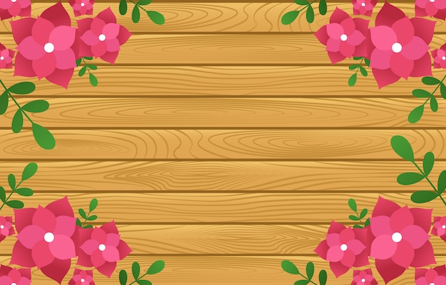 Zomer lente bloeiende bloem natuur frame op houten bord