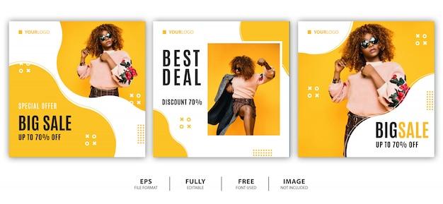 Zomer / mode verkoop banner ontwerp