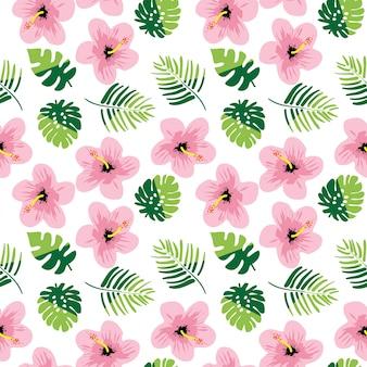 Zomer naadloze patroon met florals