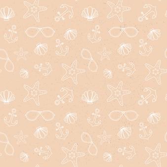 Zomer naadloze patroon met kleurrijke tropische sieraad achtergrondstijl