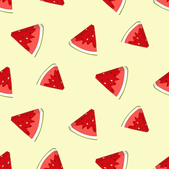 Zomer naadloze patroon met watermeloen plakjes.