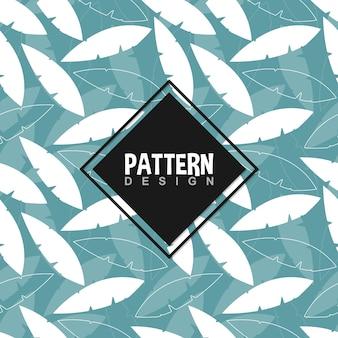 Zomer naadloze patroon op blauwe achtergrond
