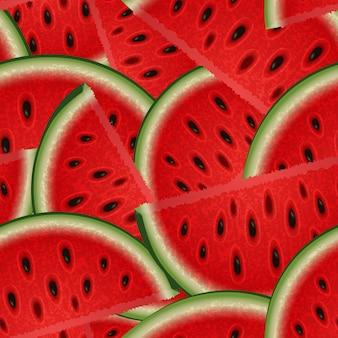 Zomer naadloze textuur van watermeloen plakjes voor uw creativiteit