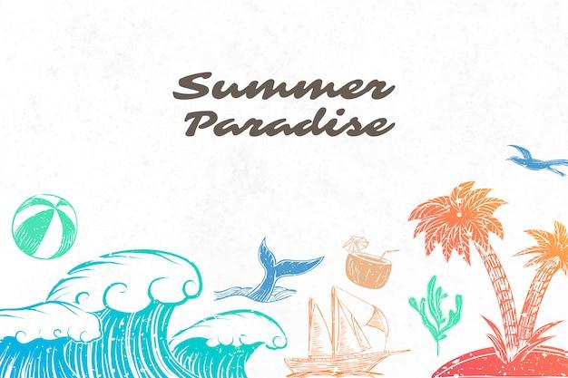 Zomer paradijs achtergrond