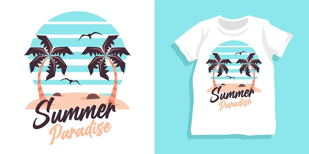 Zomer paradijs tshirt ontwerp