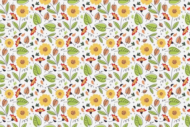 Zomer patroon achtergrond voor zoom met zonnebloemen