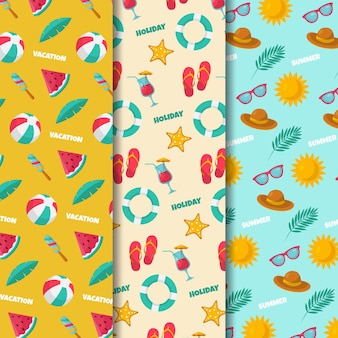 Zomer patroon collectie concept