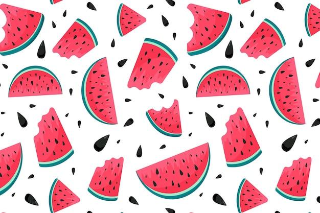 Zomer patroon met watermeloen