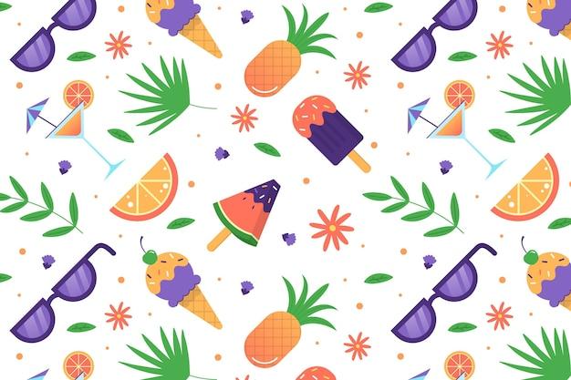 Zomer patroon voor zoom wallpaper concept