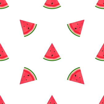 Zomer plat naadloos patroon met watermeloen