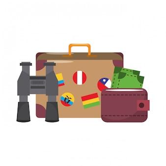Zomer reizen en vakanties cartoons