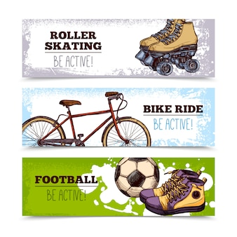 Zomer sport banners