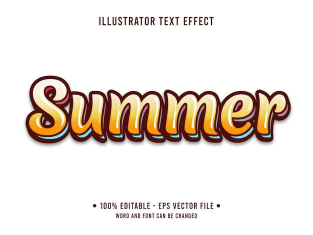 Zomer strand bewerkbaar teksteffect