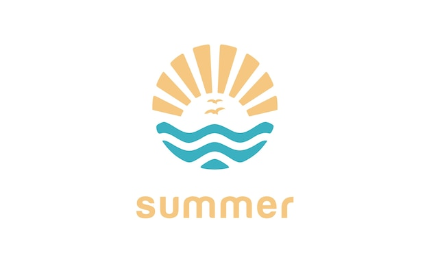 Zomer strand logo ontwerp