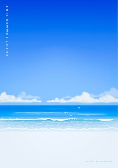 Zomer strand sjabloon