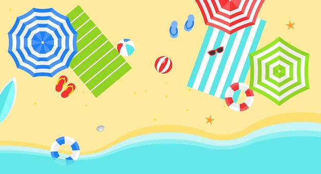Zomer strandbanner
