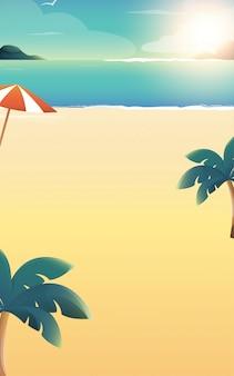 Zomer strandvakantie