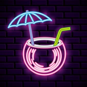 Zomer symbool neonlichten teken