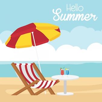 Zomer thema met zomerattributen