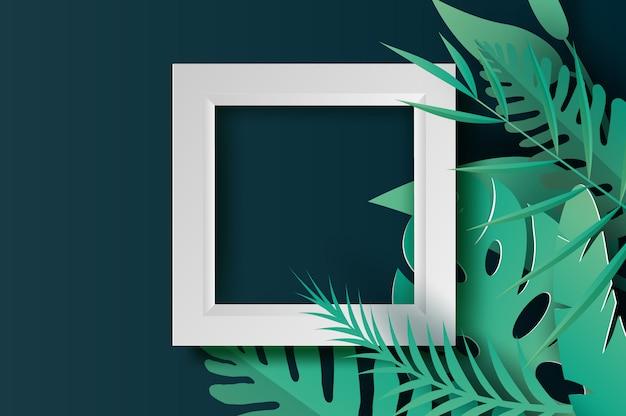 Zomer tropische palmbladeren en planten