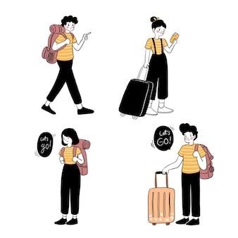 Zomer vakantie mensen concept