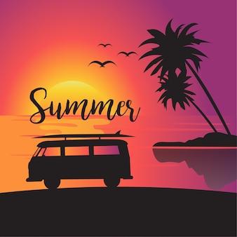 Zomer vakantie poster