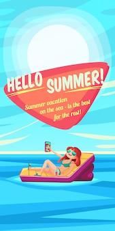 Zomer vakantie poster.