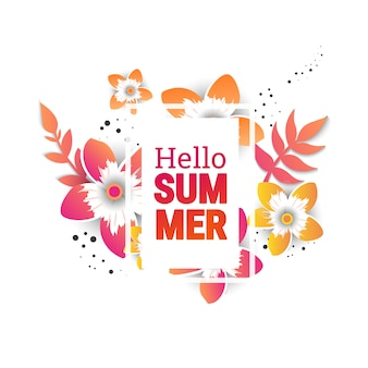 Zomer verkoop achtergrond lay-out banners.