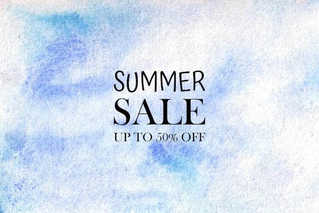 Zomer verkoop aquarel pastel achtergrond hand geschilderd. aquarel kleurrijke vlekken op papier.