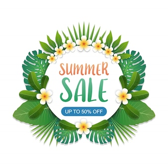 Zomer verkoop banner achtergrond lay-out