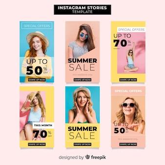 Zomer verkoop instagram verhalen sjablonen