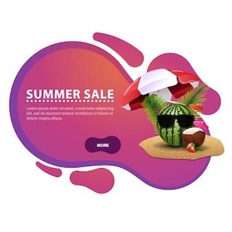 Zomer verkoop, moderne creatieve korting webbanner voor uw website