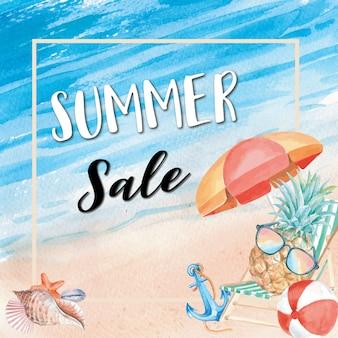 Zomer verkoop vakantie achtergrond