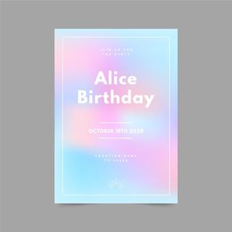 Zomer verkoop verjaardagsuitnodiging