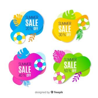 Zomer verkoop vloeibare kleurrijke banner collectie