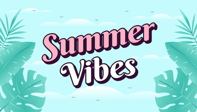 Zomer vibes concept webbanner.