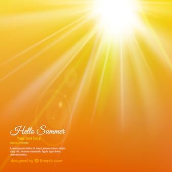 Zomer zon achtergrond