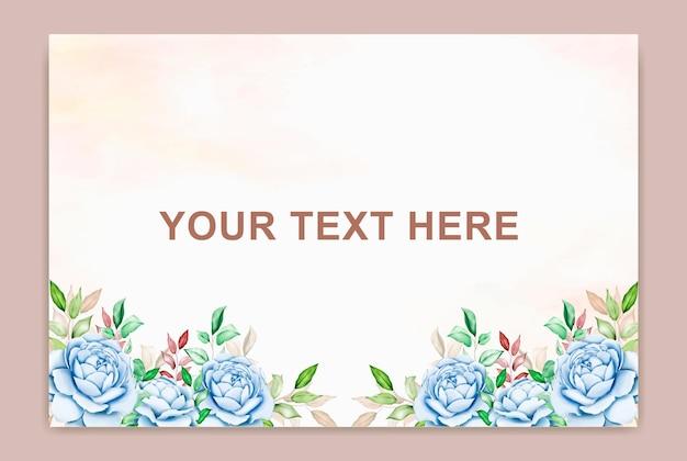 Zomerbanner met bloem aquarel blad
