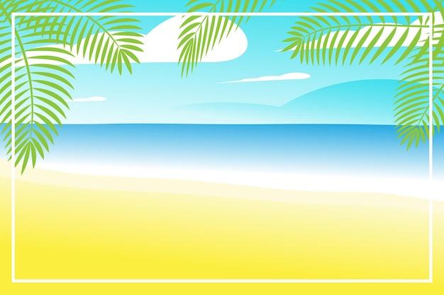 Zomerbanner of achtergronden met ruimte voor tekst. wenskaart, poster en reclame, behang. zomerlandschap, vakantie, weekend, vakantieconcept. fijne glanzende dag.