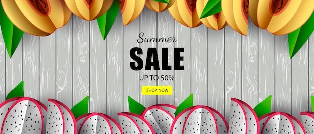 Zomerbanner verkoop tropisch fruit