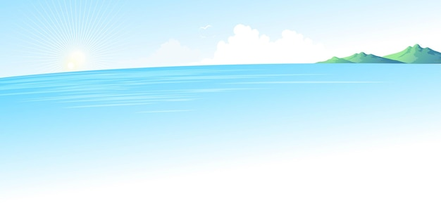 Zomerblauw zeelandschap