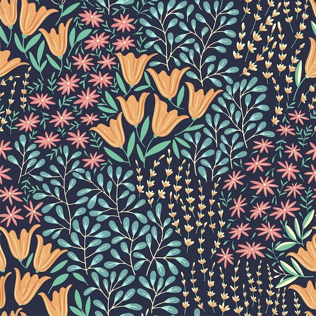 Zomerbloemen naadloze patroon