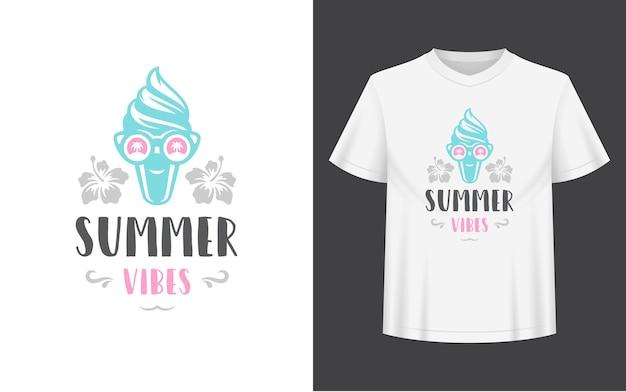 Zomercitaat of gezegde kan worden gebruikt voor foto-overlays van t-shirtmok-wenskaarten