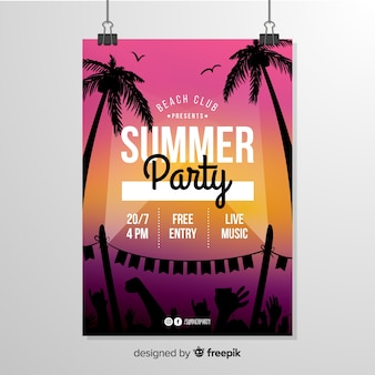 Zomerfeest flyer