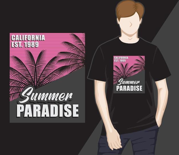 Zomerparadijs typografie t-shirtontwerp