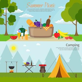 Zomerpicknick op weide onder hemel. watermeloen op het gras, fruit, wijn, barbecue, grill en bbq.