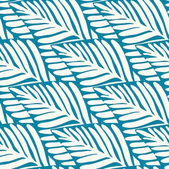 Zomerse natuur jungle print. exotische plant. tropische patroon, palmbladeren naadloze vector floral achtergrond.